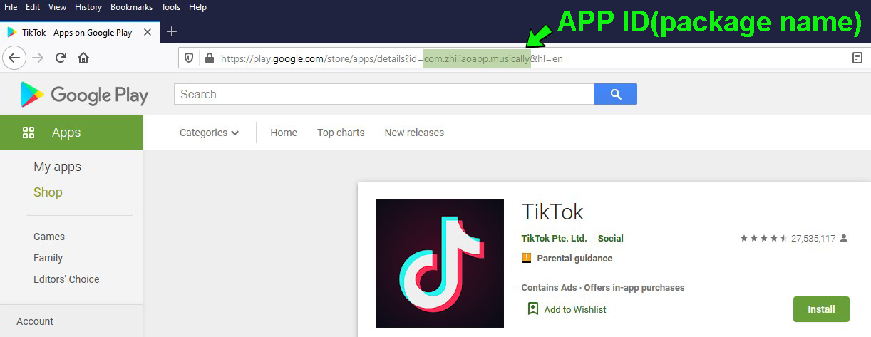 How to find Google Play App id